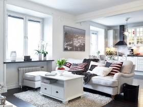 Living room in Scandinavian style