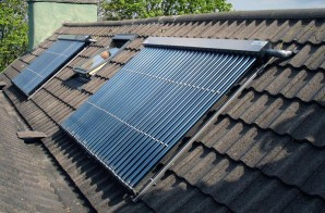 Solar collectors for water heating at the cottage