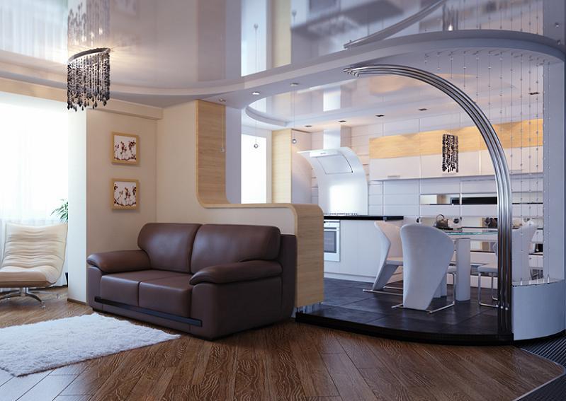 Совмещение кухни с гостиной фото