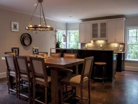 Стильная кухня, совмещенная с гостиной