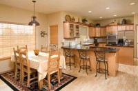 American style combined kitchen