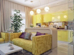 Combined living room bright colors