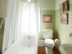 Small bright bathroom with toilet