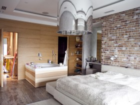 Modern bedroom with Jacuzzi