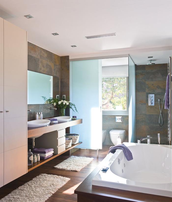 Кухня с ванной в одной комнате дизайн