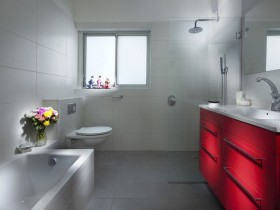 The design of the project combined bathroom