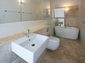 The interior combined bathroom