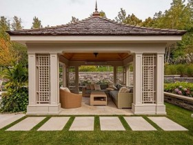 Gazebo in a contemporary style