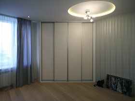 Large light closets in room