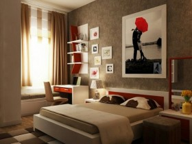 Modern bedroom for girl