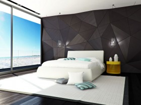 Black and white bedroom contemporary design