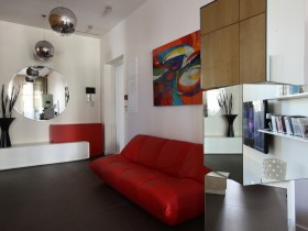Room for teenager with red sofa