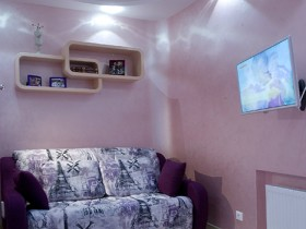 Pink nursery room for girls
