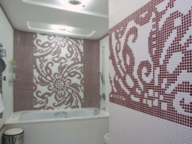The white room, decorated with mosaics