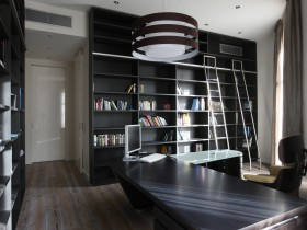 Modern private office in dark shades