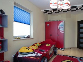 Bed for a boy in race car