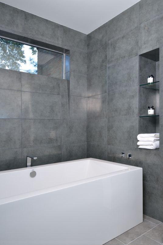 Серая ванная комната фото