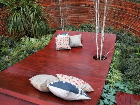 Garden furniture in the style of hi-tech