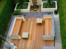 Layout modern garden