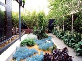Декор саду в стилі хай-тек