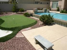 Suburban area modern garden style