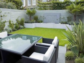 Courtyard modern garden