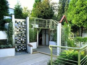 Idea for garden decoration, high-tech
