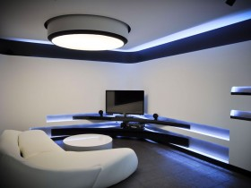 Modern living room with functional lighting