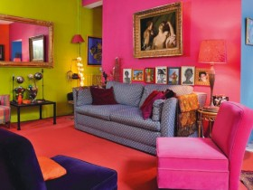 Living room in kitsch style