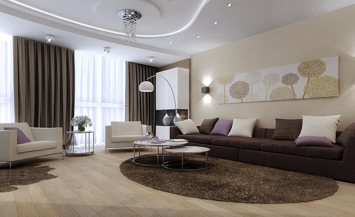 Гостиная в современном стиле: фото идеи дизайна