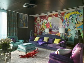 Living room in pop-art style