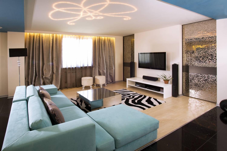 Красивые современные интерьеры гостиной
