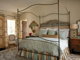 Bright bedroom with canopy bed