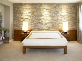 Светлый интерьер спальни в стиле лофт
