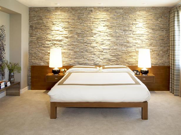 Интерьер спален декоративной штукатуркой фото