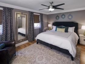 Modern bedroom in light tones