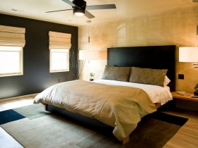 The play of colors in the bedroom interior