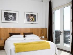 Bright bedroom in Scandinavian style
