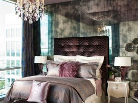 Luxury dark bedroom