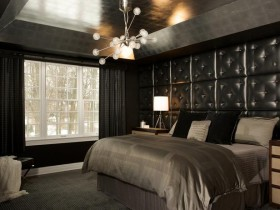Stylish room in dark colors