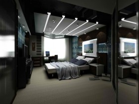 Dark bedroom for teenager boy