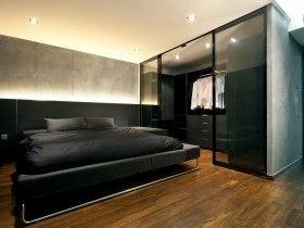 Modern design dark bedrooms