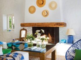 Fireplace Mediterranean style