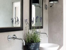 Washbasin in a modern Mediterranean style