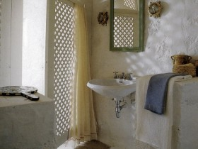 The interior of bathroom Mediterranean style
