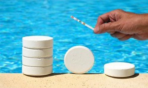 Cleaning of water bodies (pool, pond and fountain)  in the country by chemical means