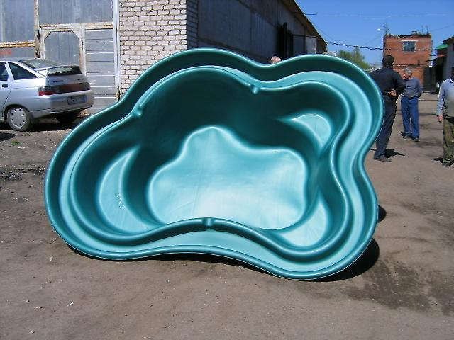 Стеклопластиковая форма для пруда