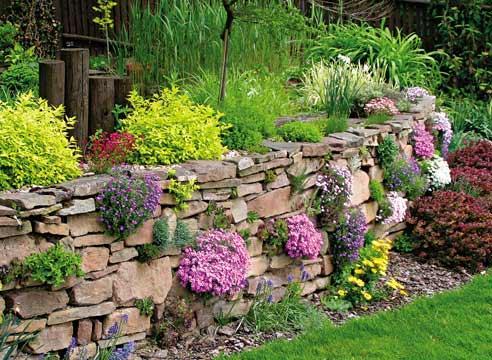 Подпорная стенка из природного камня своими руками