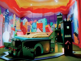 Children's room in kitsch style