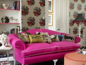Sofa in the style of kitsch